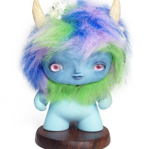 Little Blue Troll: Custom Mini Munny